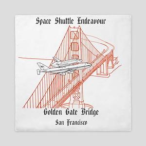 SF_12x12_Endeavour_GoldenGateBridge_BB Queen Duvet