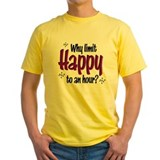 Food drink Mens Classic Yellow T-Shirts