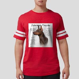 Doberman (red) Mens Football Shirt