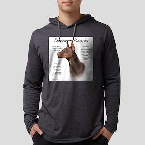 Doberman (red) Mens Hooded Shirt