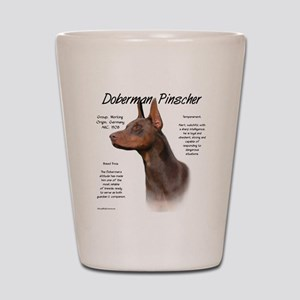 Doberman (red) Shot Glass