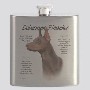 Doberman (red) Flask