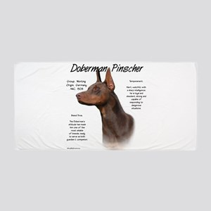 Doberman (red) Beach Towel