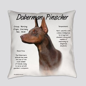 Doberman (red) Everyday Pillow