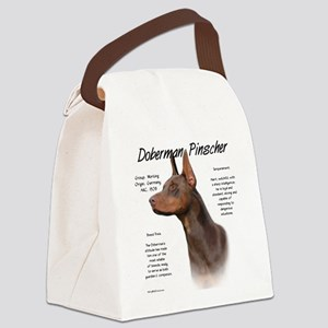 Doberman (red) Canvas Lunch Bag