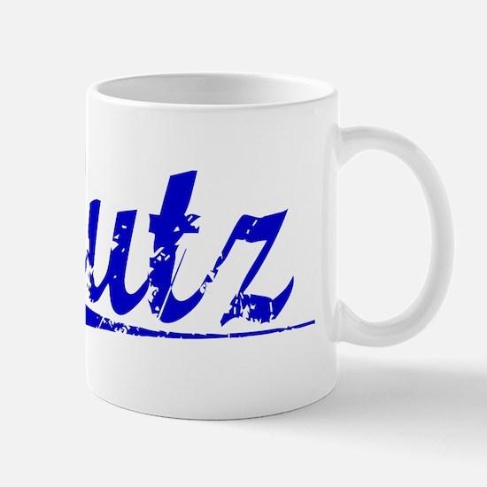 Lutz, Blue, Aged Mug