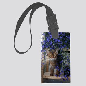 Flower Cat Large Luggage Tag