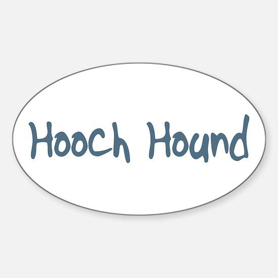 Hooch Hound Oval Decal