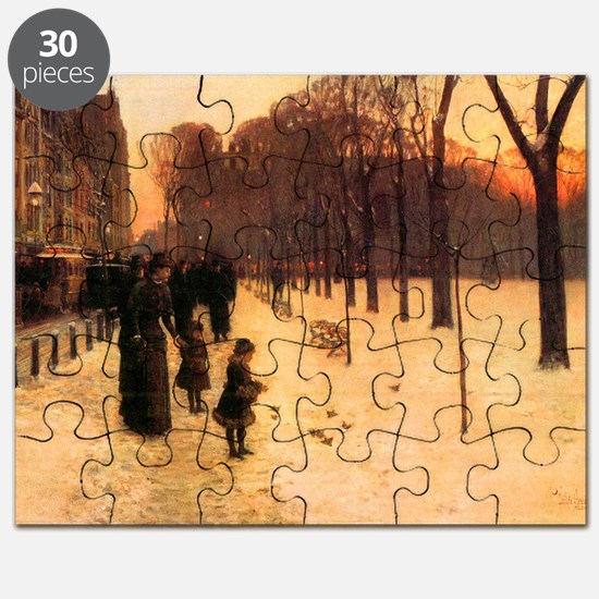 Childe Hassam Boston In Everyday Twilight Puzzle
