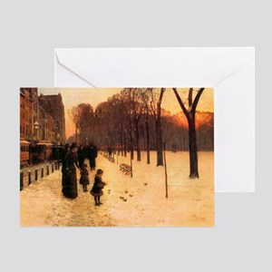 Childe Hassam Boston In Everyday Twi Greeting Card