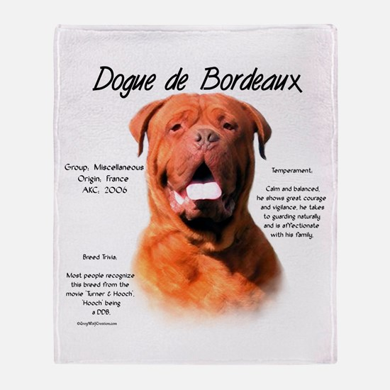 Dogue de Bordeaux Throw Blanket