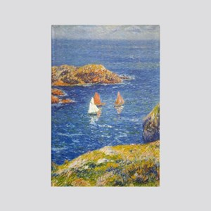 Claude Monet Calm Sea Rectangle Magnet