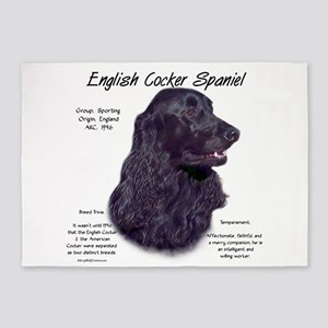 English Cocker (black) 5'x7'Area Rug
