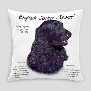 English Cocker (black) Everyday Pillow