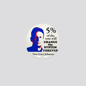 5 percent Sticker Mini Button