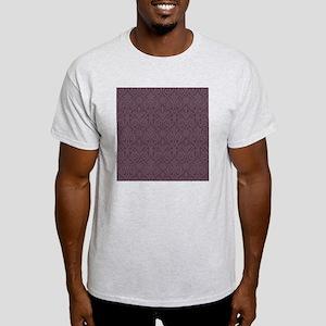 Purple Damask Print Light T-Shirt