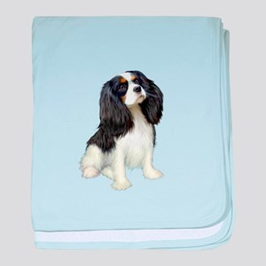Cavalier (tri color) baby blanket