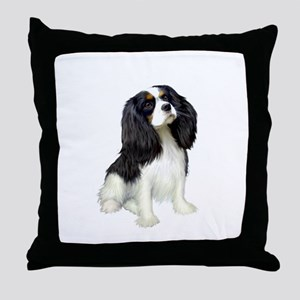Cavalier (tri color) Throw Pillow