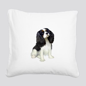 Cavalier (tri color) Square Canvas Pillow