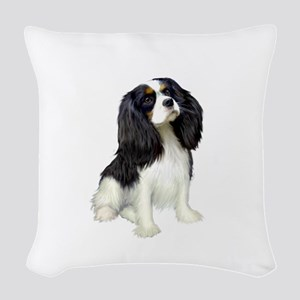 Cavalier (tri color) Woven Throw Pillow