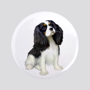 "Cavalier (tri color) 3.5"" Button"