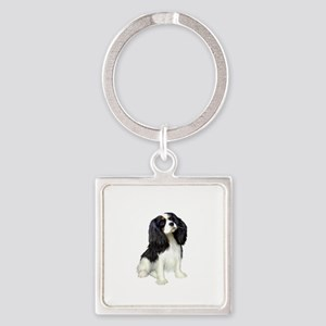 Cavalier (tri color) Square Keychain