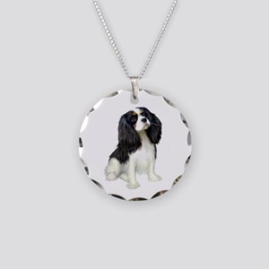 Cavalier (tri color) Necklace Circle Charm