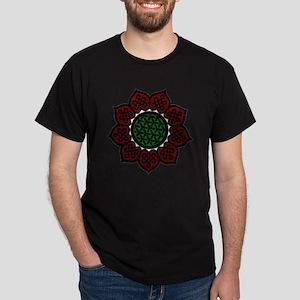 Red Celtic Flower Dark T-Shirt
