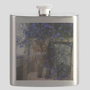 Flower Cat Flask
