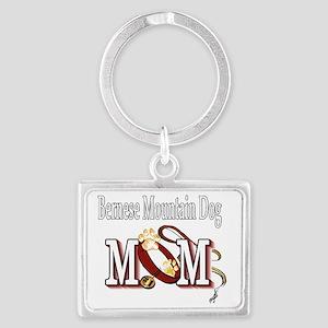 Bernese Mtn Dog Mom Landscape Keychain