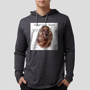 English Cocker (liver) Mens Hooded Shirt