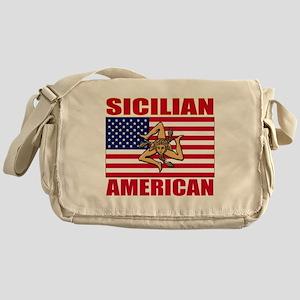 sicilian american a(blk) Messenger Bag