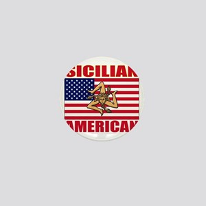 sicilian american a(blk) Mini Button
