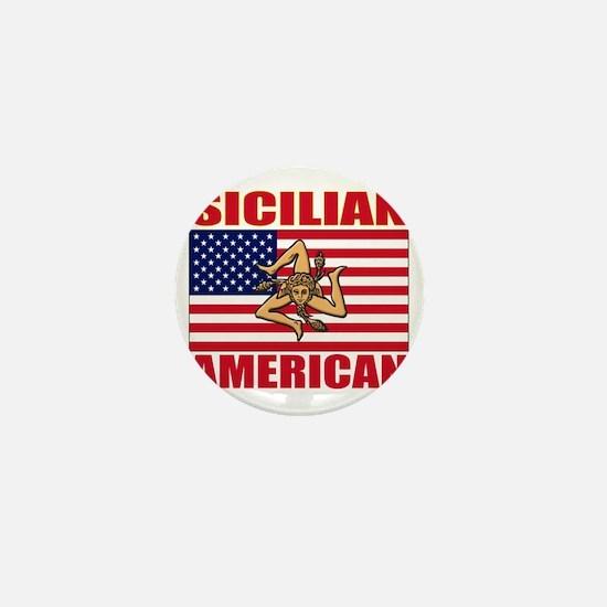 sicilian american a(blk) Mini Button