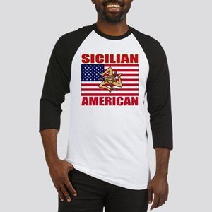 sicilian american a(blk) Baseball Jersey