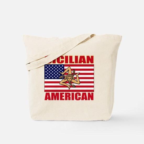 sicilian american a(blk) Tote Bag