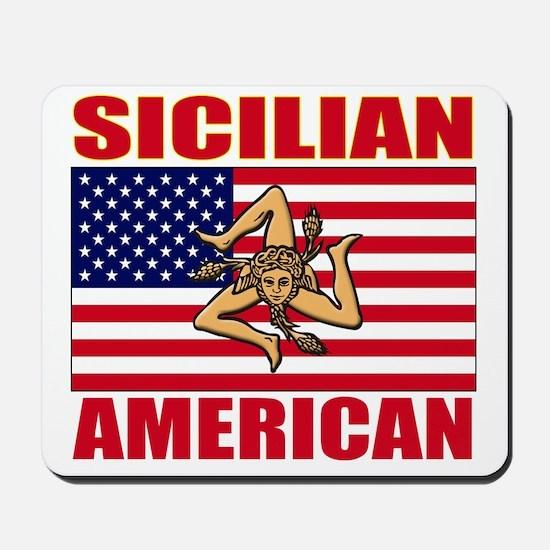 sicilian american a(blk) Mousepad