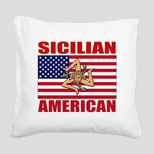 sicilian american a(blk) Square Canvas Pillow