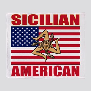 sicilian american a(blk) Throw Blanket