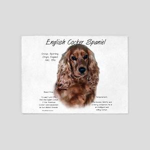 English Cocker (liver) 5'x7'Area Rug