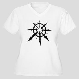 chaos Women's Plus Size V-Neck T-Shirt
