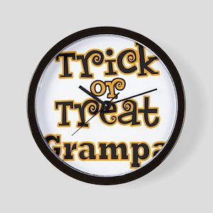 Trick or Treat Grampa Wall Clock
