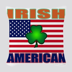 irish American pride Woven Throw Pillow