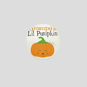 Grampas Little Pumpkin Mini Button