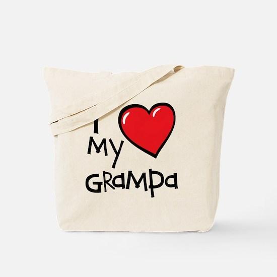 I Love My Grampa Tote Bag