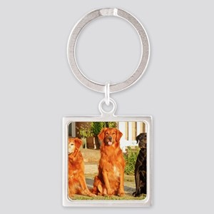 Blue Skies Homestead Pack Square Keychain