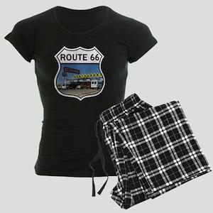 Route 66 Restaurant - Santa  Women's Dark Pajamas