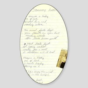 vintage poem by Tia Knight journey  Sticker (Oval)
