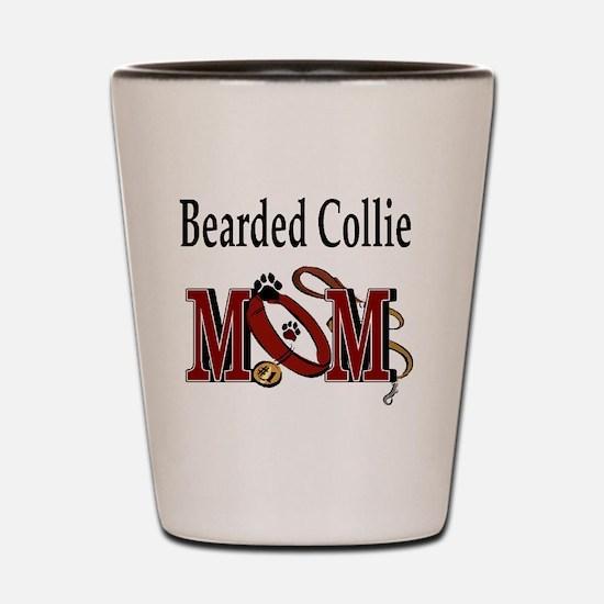 Bearded Collie Mom Shot Glass