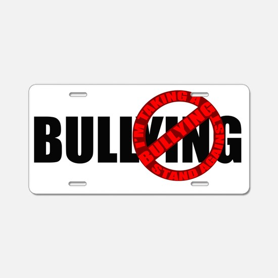 Anti Bullying Aluminum License Plate